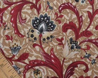 Kings Road quilt fabric French Country Kalamkari floral fabric French Jacobean floral fabric by the yard Renaissance farmhouse table