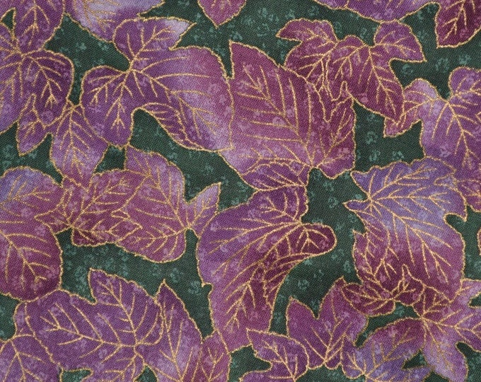 Hoffman Japanese quilt fabric lavender purples leaves Kimono Collection