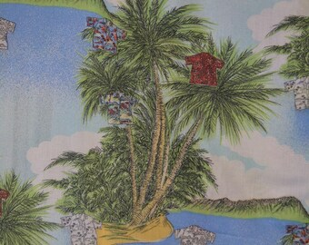 Large Palm tree fabric Hawaiian fabric finds