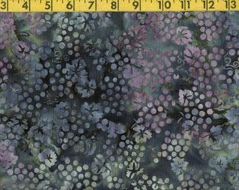 Grapes batik fabric, wine theme tie dyed quilting cotton