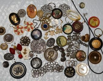Broken jewelry lot vintage destash jewelry lot assemblage jewelry