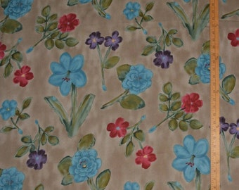 Floral rayon fabric rare 90s Alexander Henry fabric