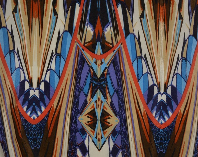 Silk scarf fabric Abstract silk fabric Pure silk fabric Art Deco Art Nouveau