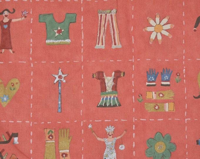 Vintage Liberty of London upholstery fabric, juvenile fabric