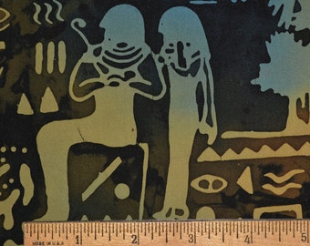 Egyptian fabric, hieroglyphics for pyramid batik fabric