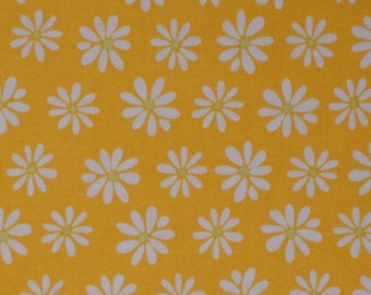 Yellow floral fabric by the yard daisy Robert Kaufman Monaluna