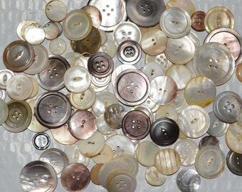 Vintage buttons lot,  mother of pearl MOP buttons destash