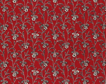 Retro floral fabric, Kaye England for SSI South Sea Imports