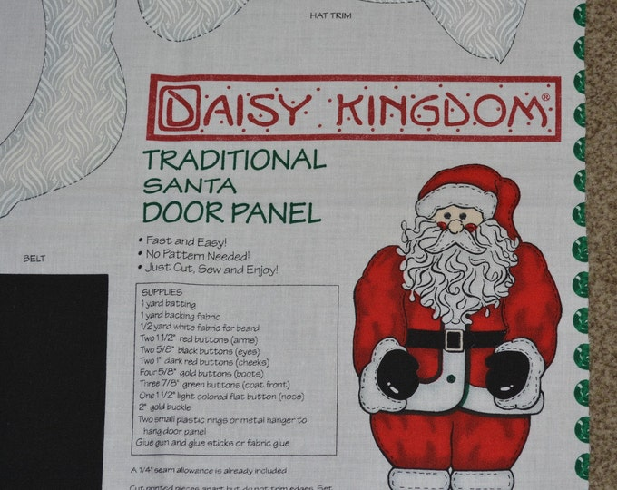 Christmas Santa wall hanging Santa fabric panel 2 door panels Daisy Kingdom fabric