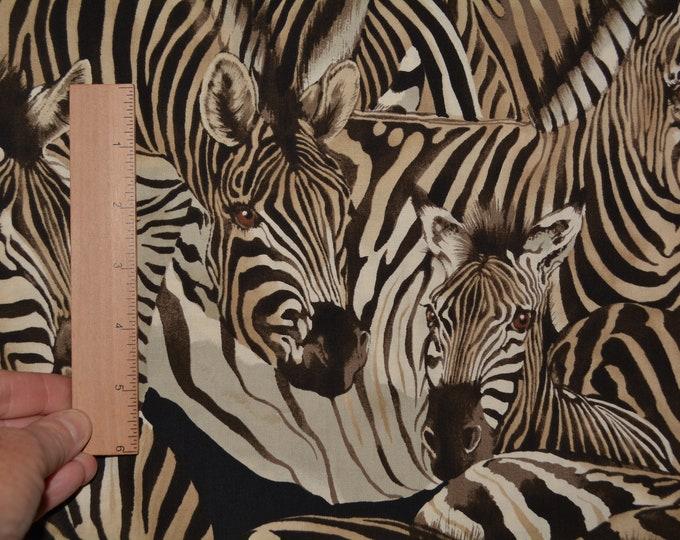 Alexander Henry African zebra print fabric by the yard