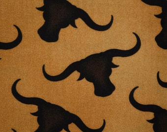 Longhorn fabric by the yard cow skull fabric Richloom