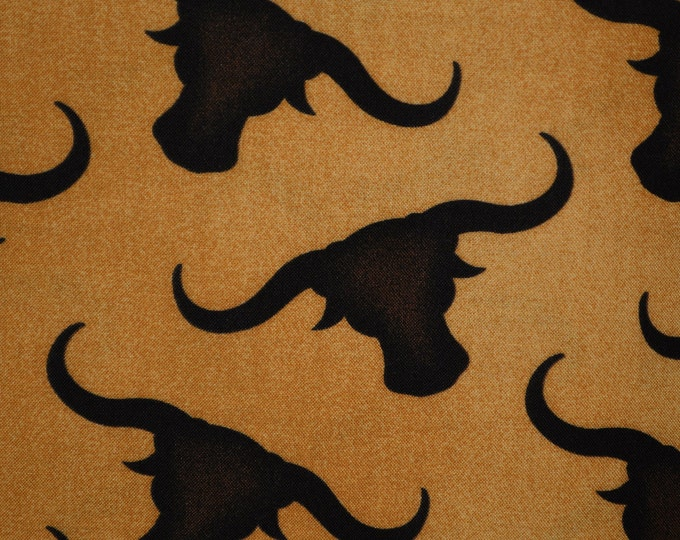 Texas Longhorn fabric steer skull fabric Richloom fabric by the yard