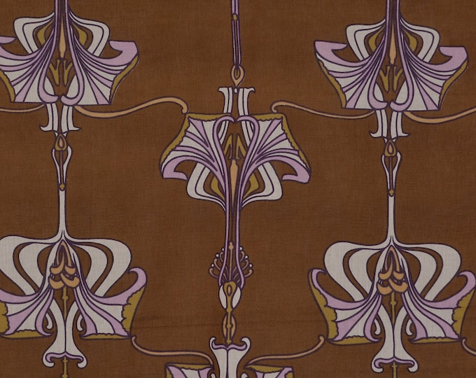 William Morris Art Nouveau floral fabric Art Deco floral semi sheer fabric