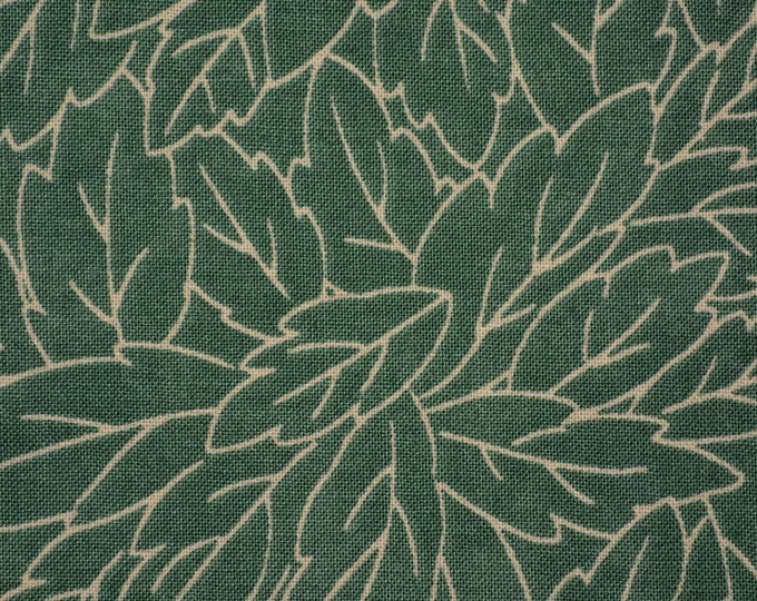 Sandy Gervais fabric moda fabric Leaf outlines Green Leaf fabric foliage fabric
