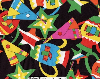 Whimsical Southwest fabric, novelty conversational print, Robert Kaufman fabric Half yard