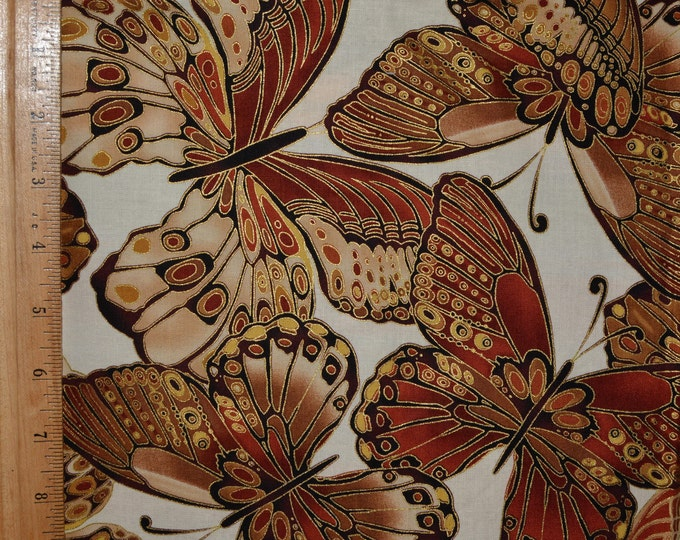 Timeless Treasures Fabric with large butterflies