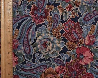 Victorian floral fabric, Paisley Jacobean fabric, Robert Kaufman fabric