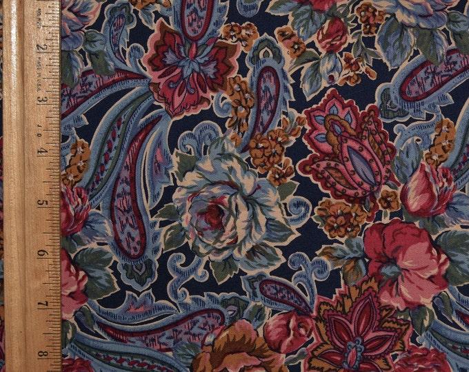 Paisley and floral fabric, Robert Kaufman vintage, Victorian theme