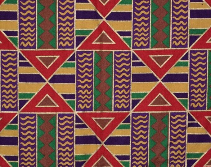 Tribal fabric geometric fabric for boho tribal or head wraps 4 yards plus