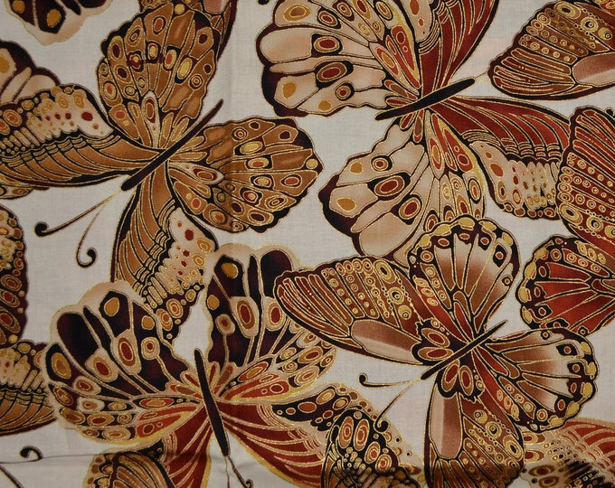 Fabric with butterflies, Large butterfly Timeless Treasures fabric