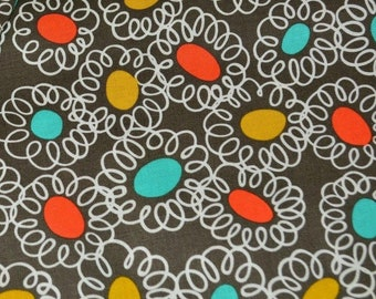 Quirky Retro mod fabric Squiggle bits multicolored Michael Miller