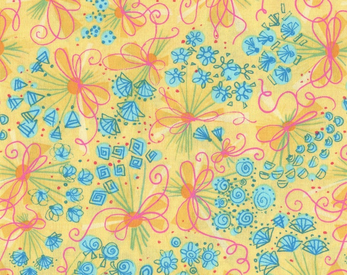 100 % cotton Spring Summer floral fabric, Mitzi Paxwell