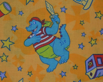 Dragon Tales party fabric cartoon Dragon fabric ord pirate