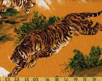 Japanese tiger print tiger fabric, Alexander Henry rare