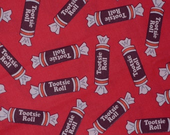 Tootsie roll fabric, candy fabric from Cranston Village VIP fabric