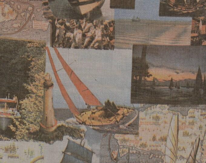 Boating decor boating fabric for sailing decor lake house decor 5 yards