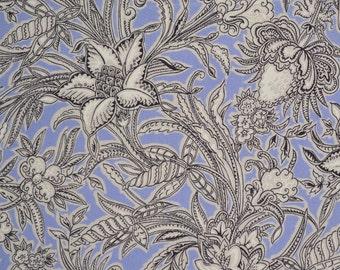 Pure silk floral fabric yardage, 2 yards botanical inspired