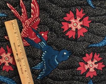 Birds and Butterflies fabric dot batik fabric Indonesian Batik fabric