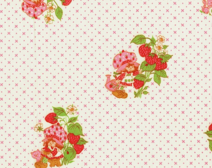 Original Strawberry Shortcake fabric vintage remnants
