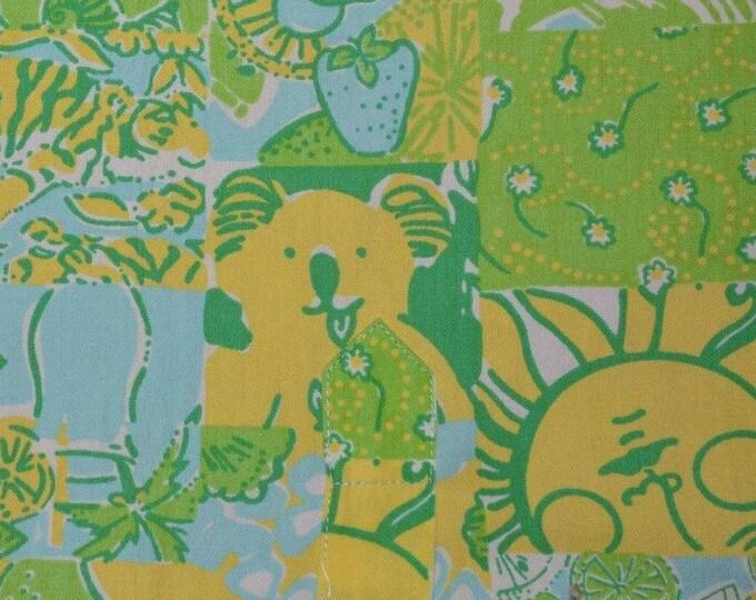 Vintage Lilly Pulitzer fabric squares remnants Zuzek