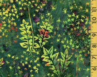 Spring green Floral batik fabric