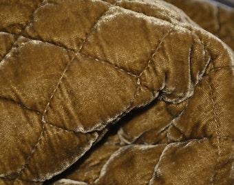 Bella Notte quilted silk velvet fabric samples