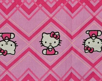 Hello Kitty fabric pink chevron