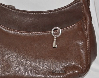 Fossil hand bag, small leather brown shoulder bag