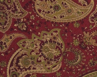 Ethnic floral print fabric Liz Claiborne rust upholstery fabric