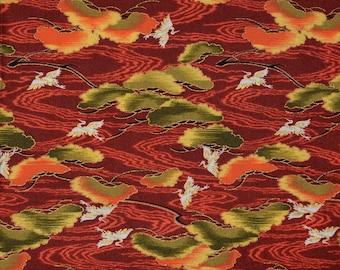 Asian flying crane fabric, Faye Burgos fabric for Marcus Brothers
