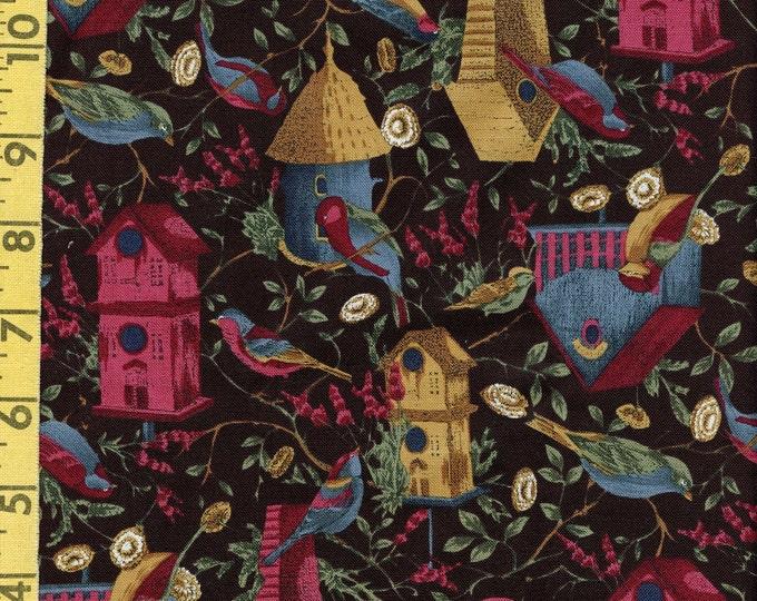 Birds and birdhouses fabric, Hoffman fabrics