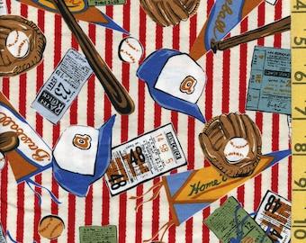 Robert Kaufman baseball fabric woven cotton