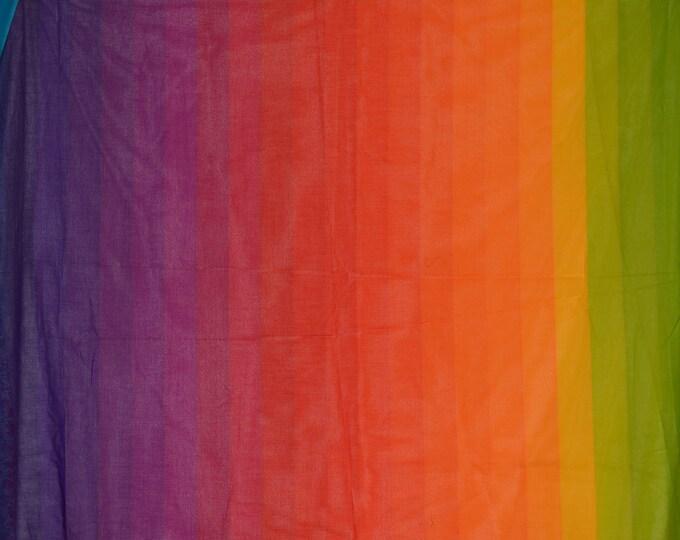 Rainbow fabric sheer cotton rainbow colors for hippie rainbow