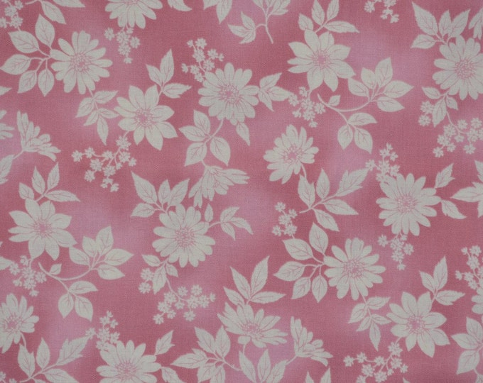 Dusty pink floral fabric, Flower Shop Robert Kaufman fabric