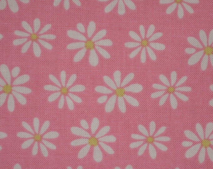 Pink floral fabric by the yard Robert Kaufman fabric Monoluna
