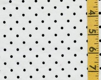 Flocked polka dot fabric yardage, apparel width half yard