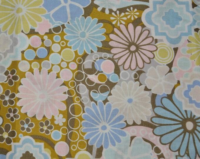 Modern Floral fabric deadstock FreeSpirit Jenean Morrison