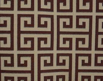 Geometric upholstery fabric, Greek key