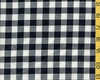 Checkered gingham fabric, Woven checks fabric by the half yard