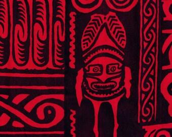 Polynesia tribal fabric tattoo print fabric